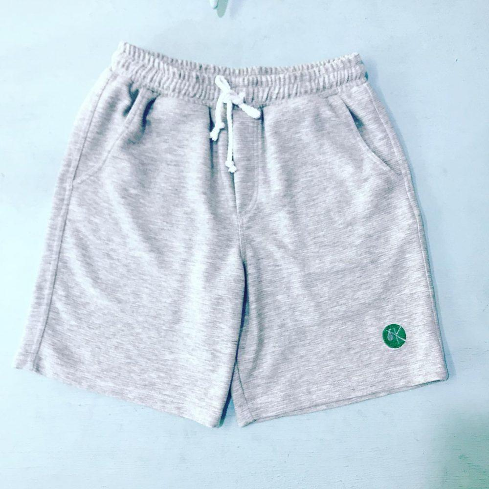 Ripple Short with embroidery (Grey marl)